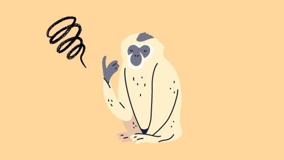 混乱する猿のイラスト